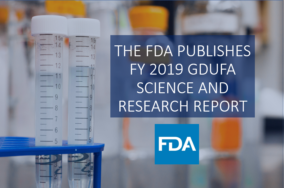 THE FDA PUBLISHES FY 2019 GDUFA SCIENCE AND RESEARCH REPORT